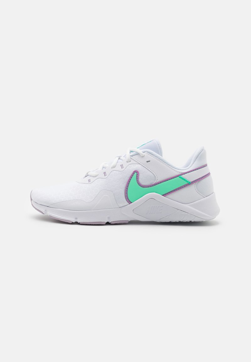 Nike Performance - LEGEND ESSENTIAL 2 - Scarpe da fitness - white/green glow/violet shock/infinite lilac