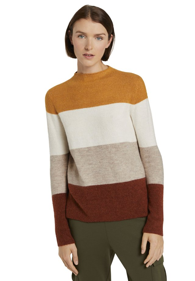 MIT STEHKRAGEN - Jumper - yellow colourblock