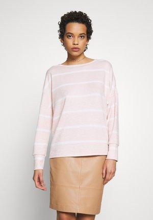 BATWING STRIPE BRUSHED - Jersey de punto - blush