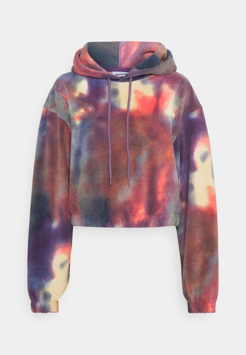 Weekday - LISA HOODIE - Fleece jumper - multi-coloured