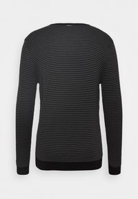 Antony Morato - ROUND COLLAR IN BICOLOUR - Jumper - gun grey - 1