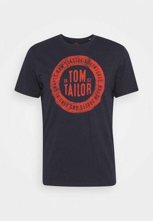 BASIC  - T-shirt con stampa - dark blue