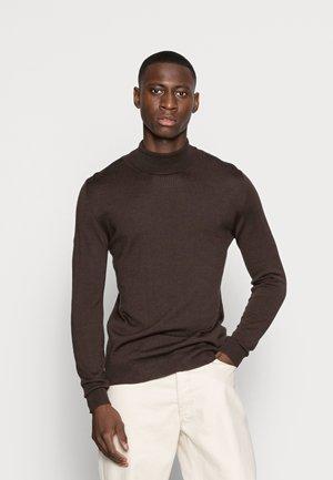 PARCUSMAN - Jumper - dark brown melange