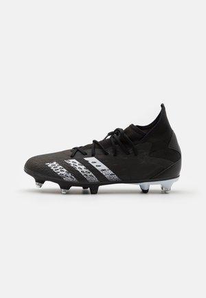 PREDATOR FREAK .3 SG - Fotbolsskor skruvdobbar - core black/footwear white