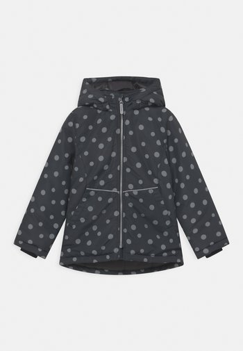 NKFMAXI JACKET DOTS - Winter jacket - black