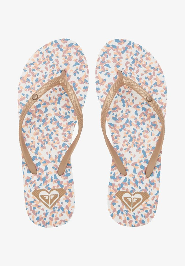 BERMUDA - Teenslippers - white/print