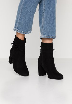 STRAP DETAIL BOOT - High heeled ankle boots - black