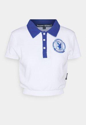 PLAYBOY SPORTS WAFFLE TEE - Polo shirt - white