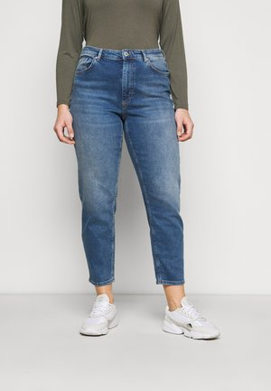 CARENEDA LIFE MOM - Relaxed fit jeans - dark blue denim