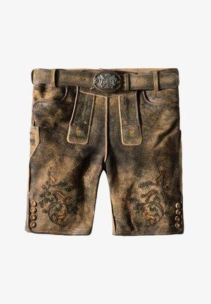 HARTL - Leather trousers - dark brown