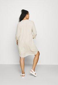 Selected Femme Curve - SLFKAMINA DRESS - Day dress - sandshell - 2