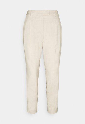 PANTS PLEATED - Trousers - cargo beige melange