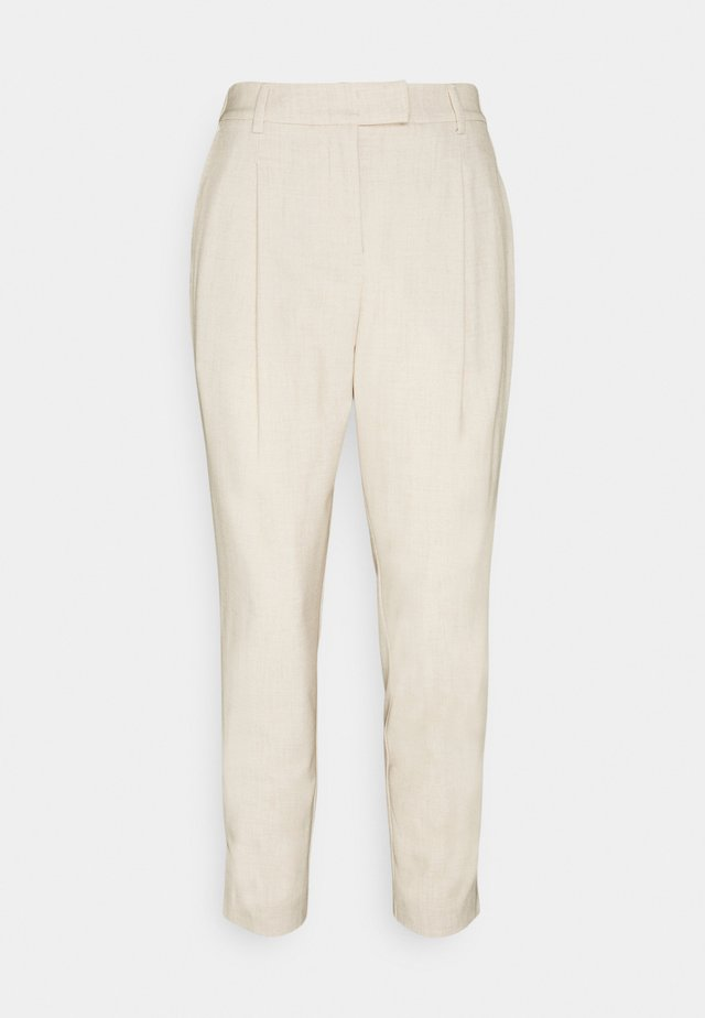 PANTS PLEATED - Broek - cargo beige melange
