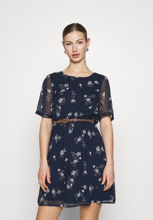 VMFALLIE BELT DRESS - Day dress - navy blazer/newhallie