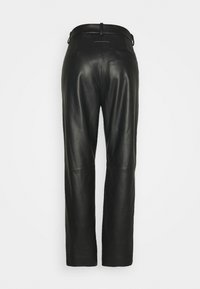 MM6 Maison Margiela - Leather trousers - black - 1