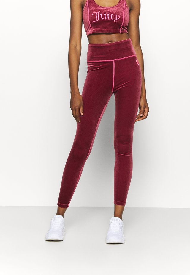 BRENNA - Leggings - cabernet