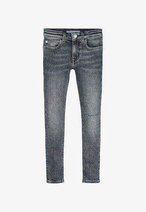 Slim fit jeans - salt black destroy stretch