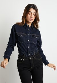 Pepe Jeans - DUA LIPA X PEPE JEANS - Button-down blouse - rinsed denim - 0