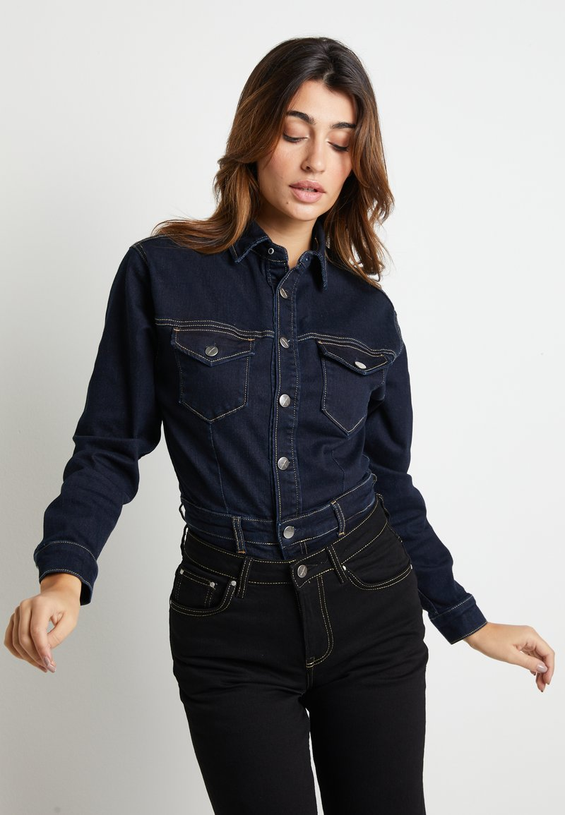 Pepe Jeans - DUA LIPA X PEPE JEANS - Button-down blouse - rinsed denim