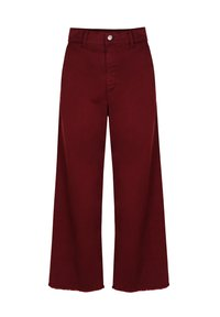 Scalpers - Flared Jeans - burgundy - 2