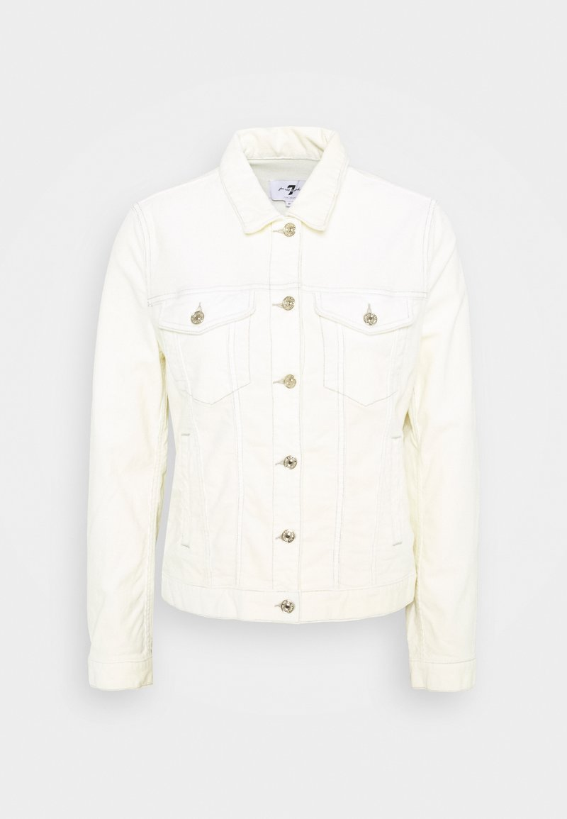 7 for all mankind - MODERN TRUCKER - Summer jacket - ecru