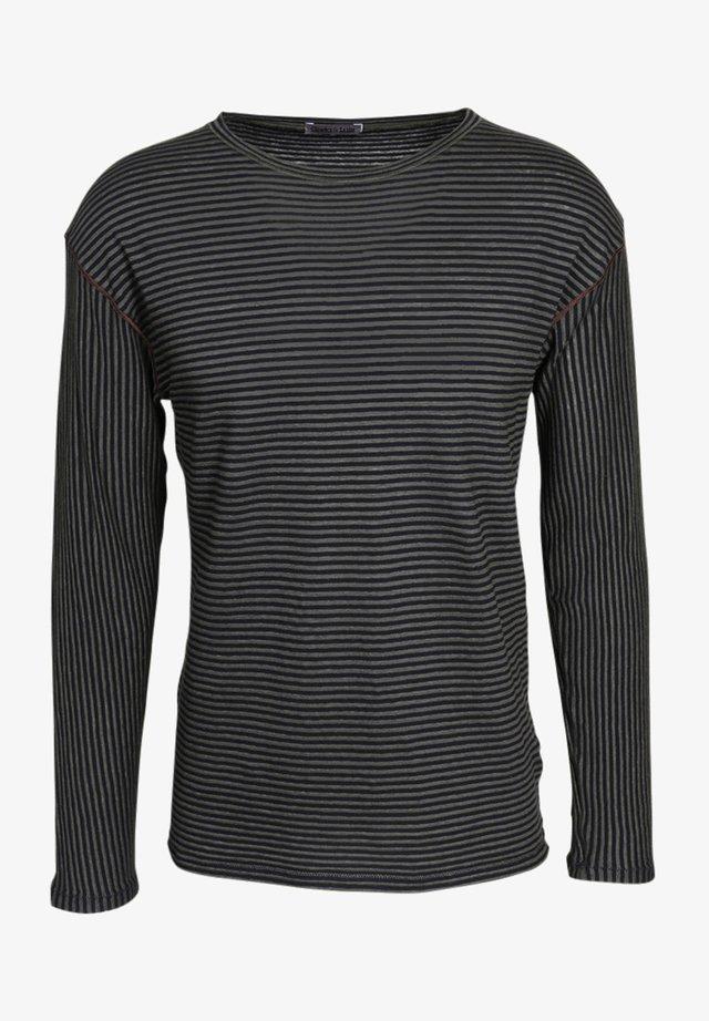 Long sleeved top - green/black