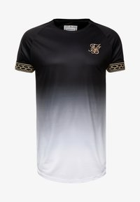SIKSILK - FADE TECH TEE - Print T-shirt - black/white - 3
