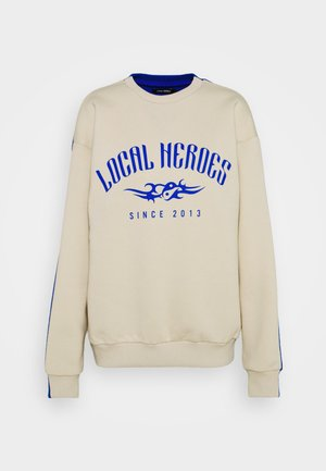 TRIBAL - Sweatshirt - beige/blue