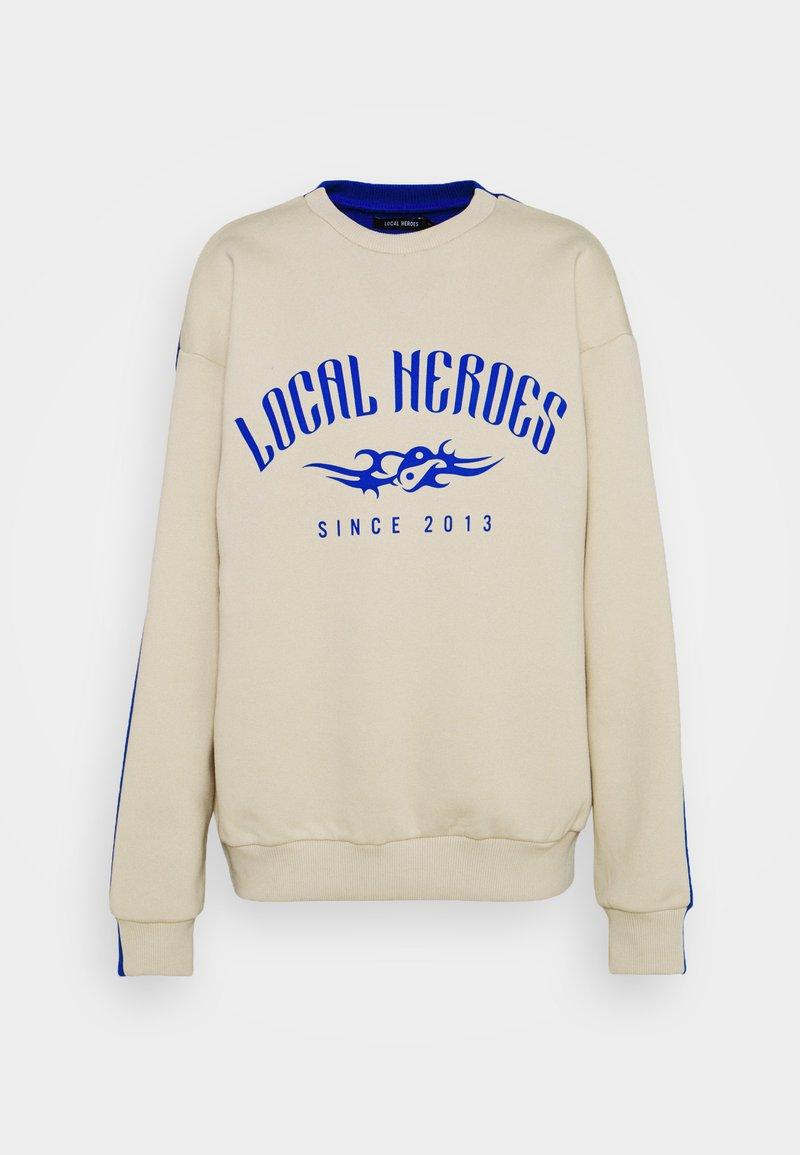 Local Heroes - TRIBAL - Sweatshirt - beige/blue
