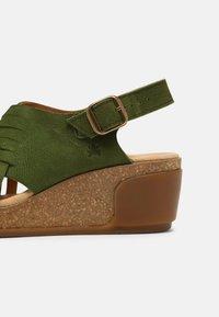 El Naturalista - LEAVES - Wedge sandals - selva - 5