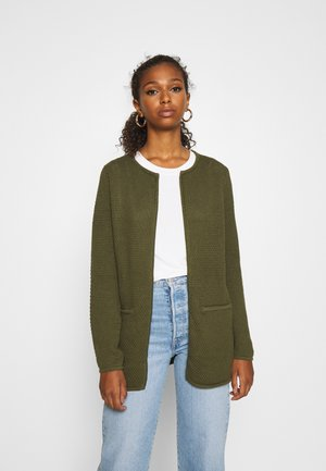 BYMIKALA STRUCTURE CARDIGAN - Kardigan - olive night
