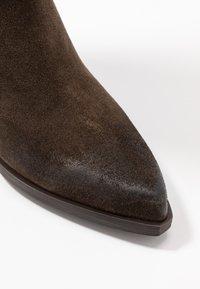 Steven New York - NEVAAR - Kovbojské/motorkářské boty - dark taupe - 2
