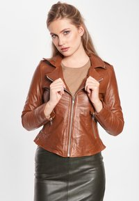 BTFCPH - MIA - Leather jacket - dark cognac - 0