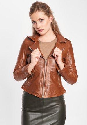 MIA - Leather jacket - dark cognac