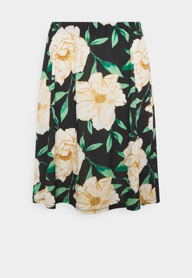 Áčková sukně - black/multi-coloured