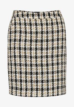 Mini skirt - black/yellow check