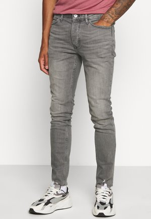 KNEE RAW HEM - Jeansy Skinny Fit - grey