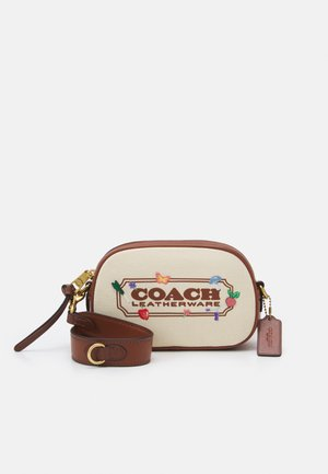 EMBROIDERED BADGE CROSSBODY - Across body bag - natural