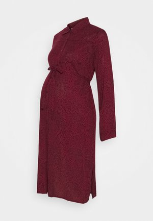 SPOT DRESS - Shirt dress - wine