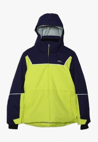 Kjus - BOYS SPEED READER JACKET - Lyžařská bunda - citrus yellow/south black - 0