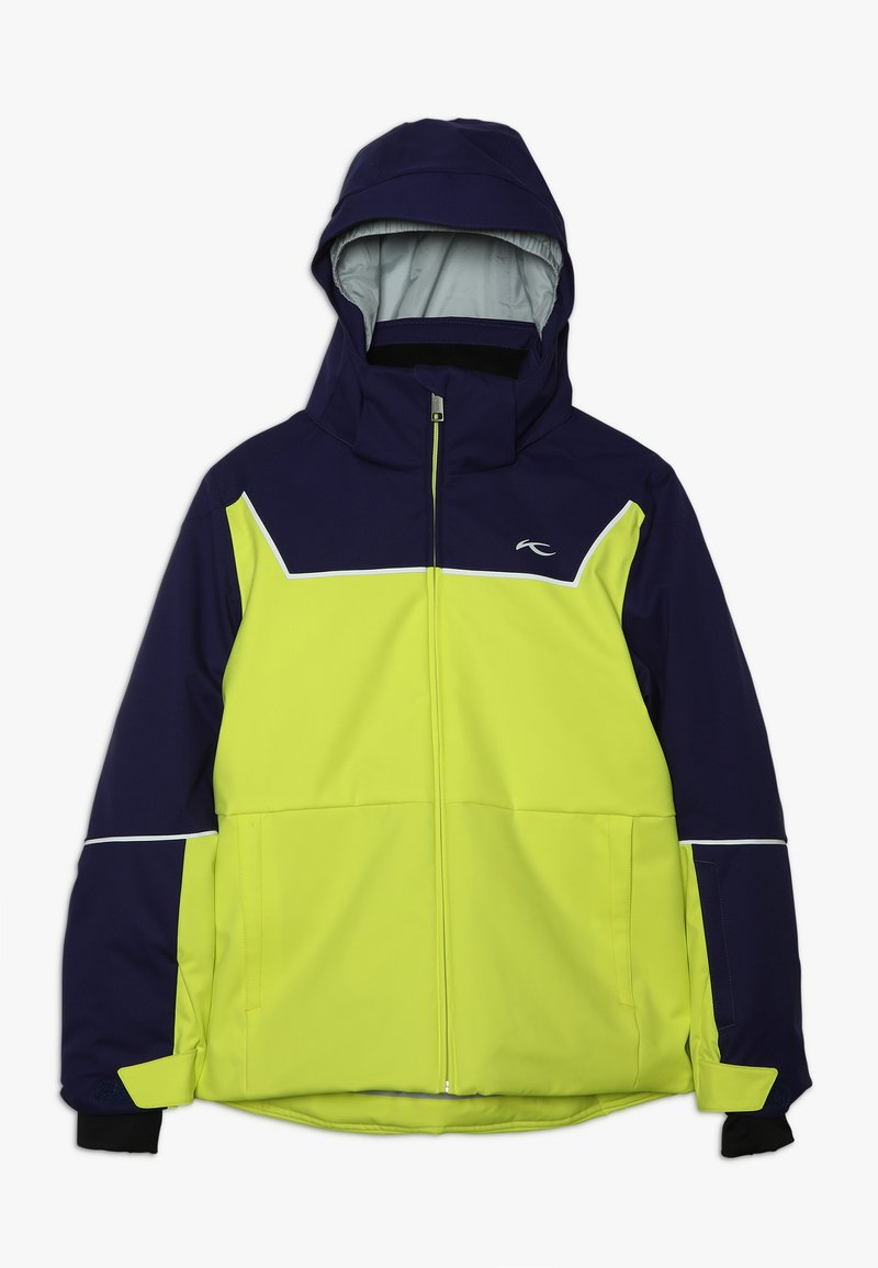 Kjus - BOYS SPEED READER JACKET - Lyžařská bunda - citrus yellow/south black