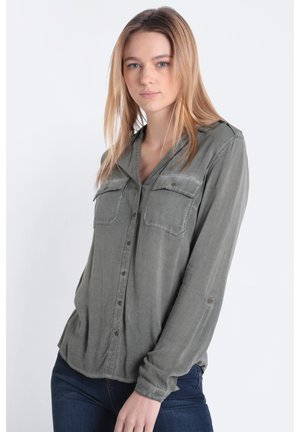 OIL - Button-down blouse - khaki