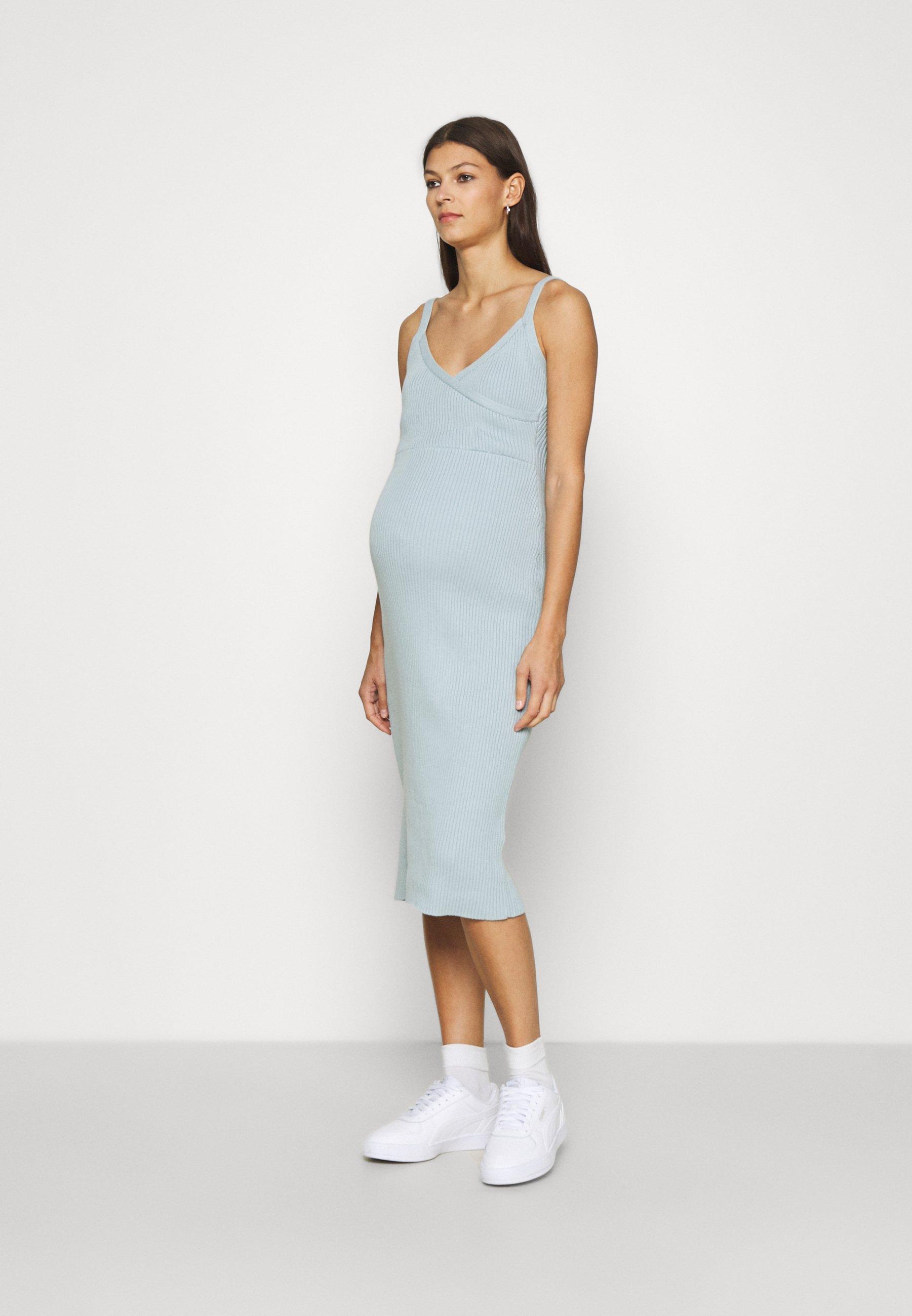Women SLEEVELESS FIXED WRAP FRONT MIDI DRESS - Jumper dress