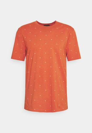 CLASSIC PATTERNED CREWNECK - Print T-shirt - orange