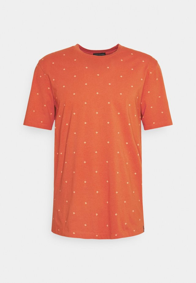 CLASSIC PATTERNED CREWNECK - Camiseta estampada - orange