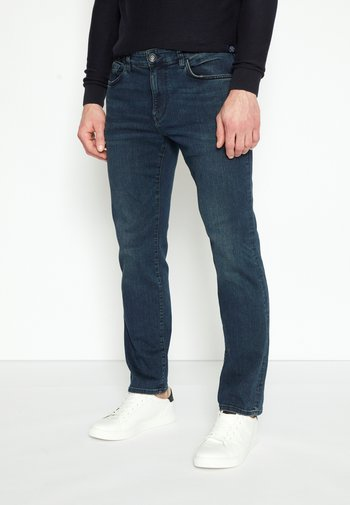 MARVIN - Straight leg jeans - dark-blue denim