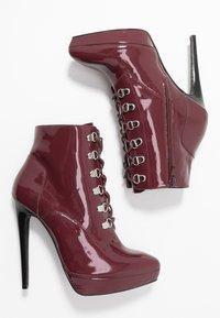 Zign - Kotníková obuv na vysokém podpatku - bordeaux - 3