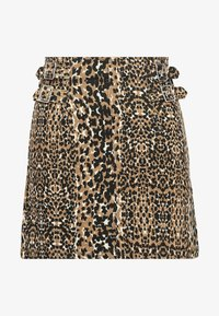 Topshop - ABSTRACT - A-linjekjol - brown - 3