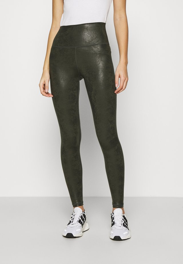 HUGGER CRACKLE - Legging - olive daze