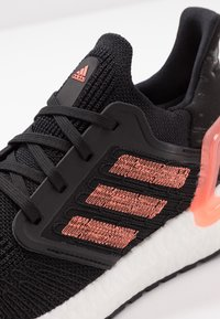 adidas Performance - ULTRABOOST 20  - Neutral running shoes - core black/signal coral/footwear white - 5